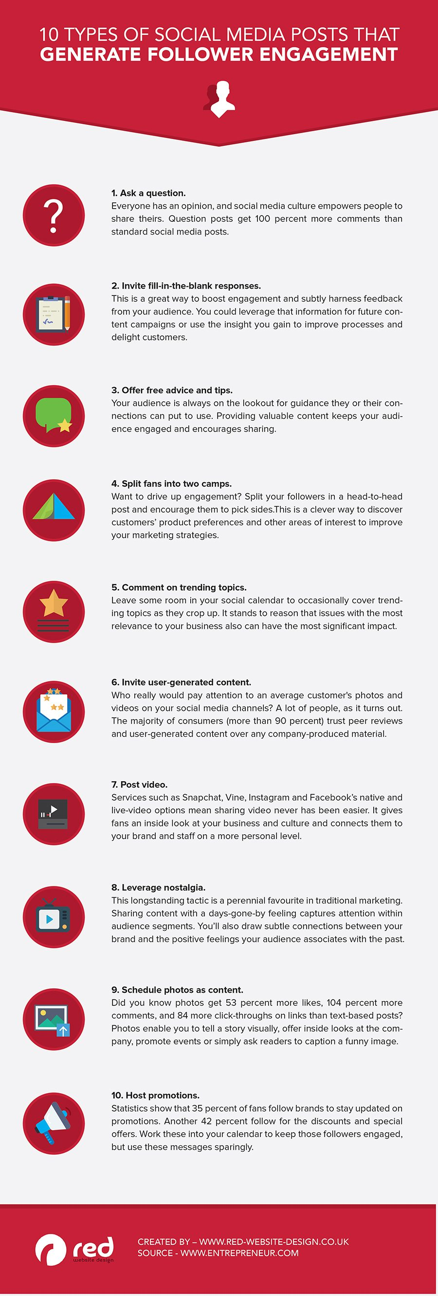 Infographic: 10 Types of Social Media Posts to Help You Stand Out Online