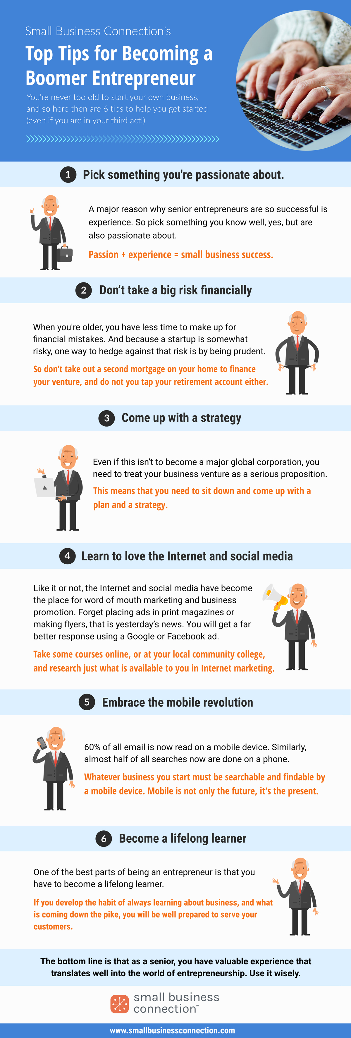 SBC Infographic: Top Tips for Becoming a Boomer Entpreneur
